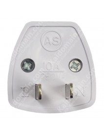 KAS Universal Travel AC Power Adapter Plug 10A AC 250V - White (1 pc)