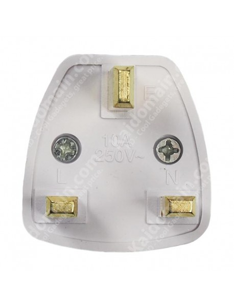 KAS Universal Travel AC Power Adapter Plug 10A AC 250V - White (1 pc)
