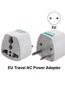 KAS Universal EU Travel AC Power Adapter Plug 10A AC 250V - White (1 pc)