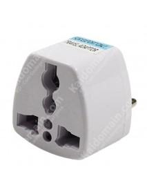 KAS Universal EU Travel AC Power Adapter Plug 10A AC 250V - White (1 pc)