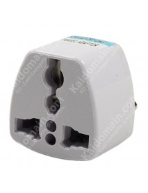 KAS Universal EU(4.8mm Dia.) Travel AC Power Adapter Plug 10A AC 250V - White (1 pc)