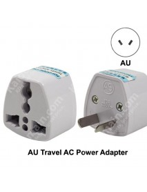 KAS Universal AU Travel AC Power Adapter Plug 10A AC 250V - White (1 pc)