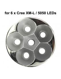 70mm (D) x 30mm (H) SMO Aluminum Reflector for 6 x Cree XM-L