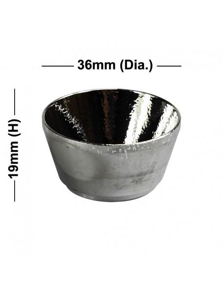 36mm (D) x 19mm (H) OP Aluminum Reflector for P7 LED