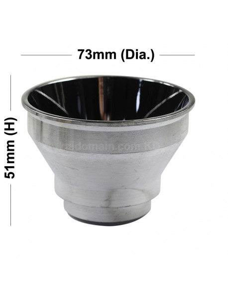 73mm(D) x 51mm(H) SMO Aluminum Reflector for Cree XHP70 / SST-90 ( 1 pc )
