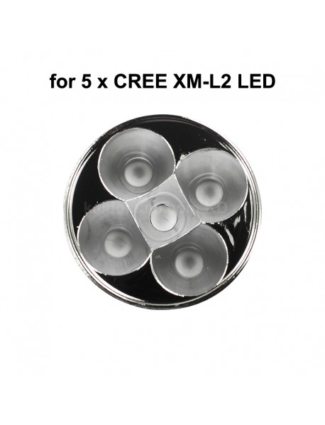 52.5mm(D) x 17.4mm(H) SMO Aluminum Reflector for 5 x CREE XM-L (1 pc)