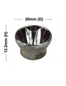 20mm (D) x 12.2mm (H) SMO Aluminum Reflector for Cree XM-L