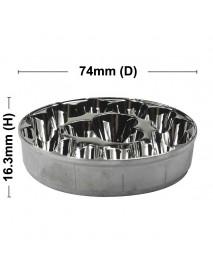 74mm (D) x 16.3mm (H) SMO Aluminum Reflector for 15 x Cree XM-L