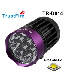 TrustFire TR-D014 7 x Cree XM-L2 LED 3200 Lumens 4-Mode Bike Light with Battery Set