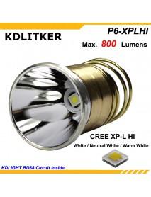 KDLITKER P6-XPLHI 800 Lumens 3V-9V LED P60 Drop-in