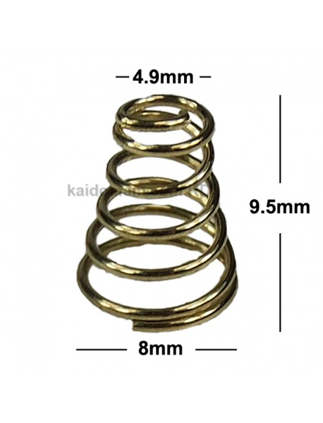 8mm (D) x 9.5mm (H) Gold Plated Spring (5 pcs)