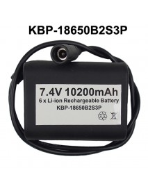 KBP-18650B2S3P 7.4V 10200mAh 6 x NCR18650B High Quality Rechargeable 18650 Li-ion Battery Pack