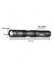 HUGSBY P12 Cree XR-E Q5 185 Lumens 1-Mode LED Flashlight - Black ( 2xAA )