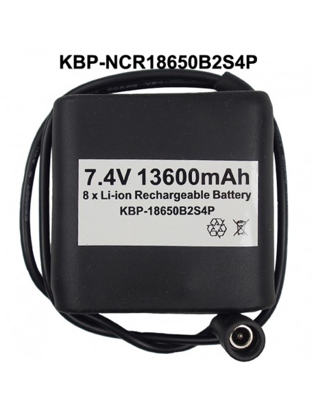 KBP-18650B2S4P 7.4V 13600mAh 8 x NCR18650B High Quality Rechargeable 18650 Li-ion Battery Pack