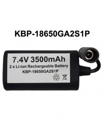 KBP-18650GA2S1P 7.4V 3500mAh 2 x NCR18650GA Rechargeable 18650 Li-ion Battery Pack with 10cm Cable