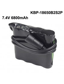 KBP-18650B2S2P 7.4V 6800mAh 4 x NCR18650B Rechargeable 18650 Li-ion Battery Pack