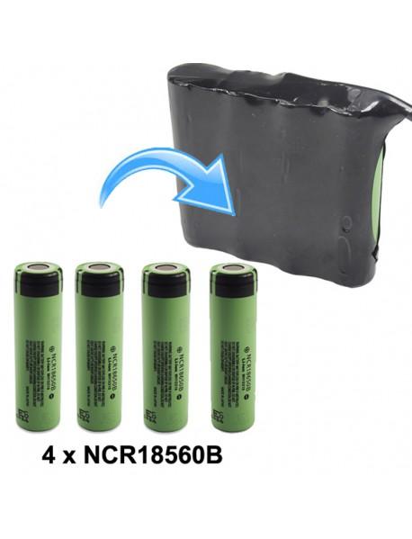 KBP-18650B2S2P 7.4V 6800mAh 4 x NCR18650B Rechargeable 18650 Li-ion Battery Pack