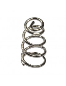 6mm (D) x 11mm (H) Silver Coated Phosphor Bronze Spring (5 pcs)