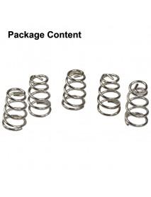 6mm (D) x 11mm (H) Silver Coated Phosphor Bronze Spring (5 pcs)