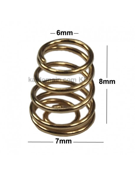 7mm (D) x 8mm (H) DIY Gold Plated Battery / Driver Contact Support Springs (5 pcs)