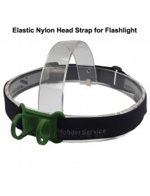 KHB1 Elastic Nylon Head Strap for Flashlight - Black (1 pc)