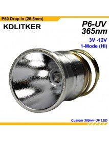 KDLITKER P6-UV 3V-12V 1-Mode OP UV P60 Drop-in