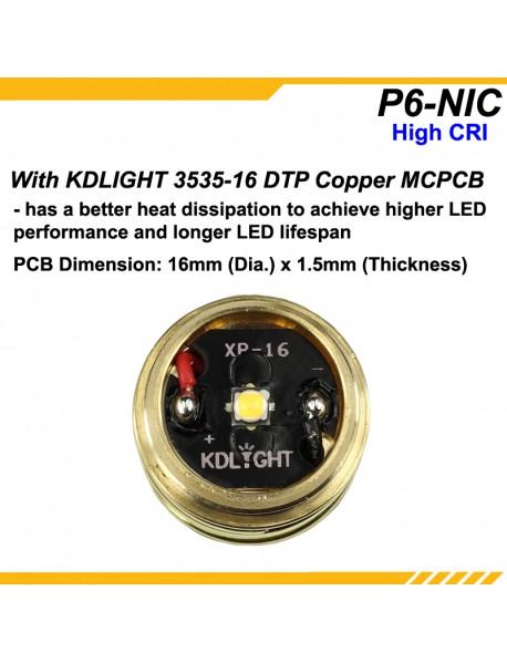 KDLITKER P6-NIC Nichia 219C 600 Lumens P60 Drop-in