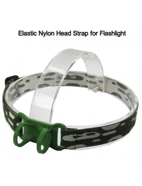 KHB3 Elastic Nylon Head Strap for Flashlight - Camouflage (1 pc)