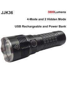 JKK36 Cree XHP70.2 LED 3800 Lumens 6-Mode USB Rechargeable LED Flashlight ( 3x18650 )