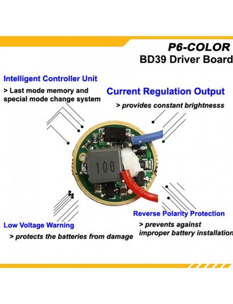 KDLITKER P6-COLOR Cree XP-E2 Red 620nm 280 Lumens 3V - 9V 1-Mode P60 Drop-in Module
