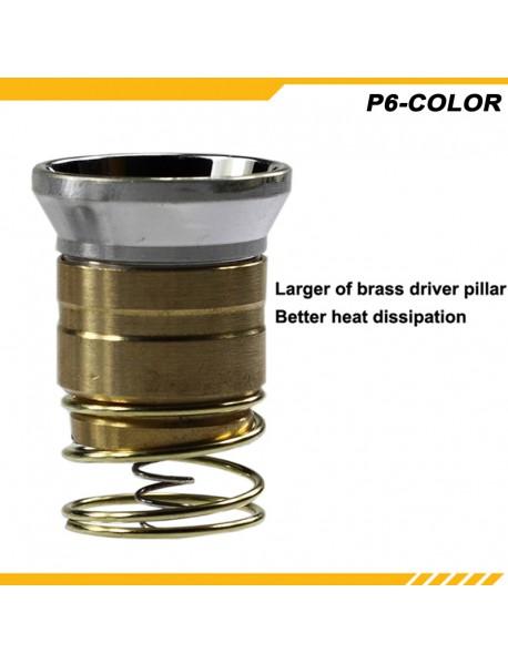KDLITKER P6-COLOR Cree XP-E2 Amber 585nm 280 Lumens 3V - 9V 1-Mode OP P60 Drop-in