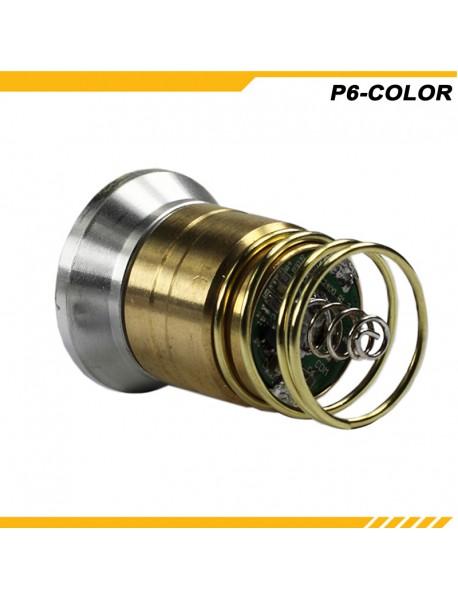 KDLITKER P6-COLOR Cree XP-E2 Green 530nm 280 Lumens 3V - 9V 1-Mode OP P60 Drop-in