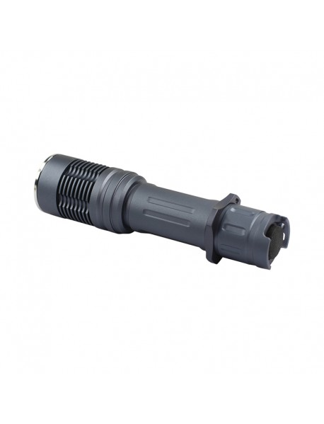 DIY KF8 LED Flashlight Host 132mm x 32.5mm - Grey