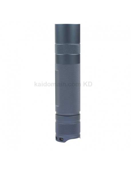 DIY S2 Plus (21700) LED Flashlight Host 123mm x 26.5mm - Grey