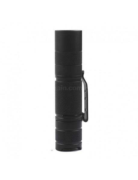 95mm (L) x 21mm (D) LED Flashlight Host - Black ( 1xAA / 1x14500 )
