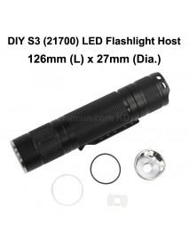 S3 (21700) LED Flashlight Host 126mm x 27mm