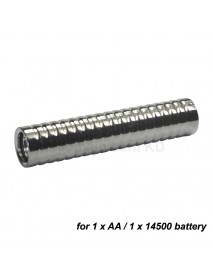 98mm (L) x 21mm (D) Stainless Steel LED Flashlight Host ( 1xAA / 1x14500 )
