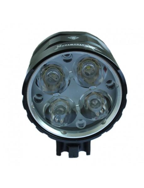 SolarStorm X6 4 x Cree XM-L2 U2 White 4-Mode 3000 Lumens Bike Light - Black