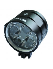 SolarStorm X6 4 x Cree XM-L2 U2 White 4-Mode 3000 Lumens Bike Light - Black