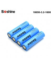 Soshine LiFePo4 3.2V 1600mAh 18650 Battery (4 pcs)