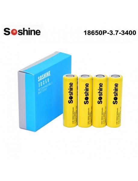 Soshine 18650 3.7V 3400mAh 3C Li-ion Recgargeable Battery (4 pcs)