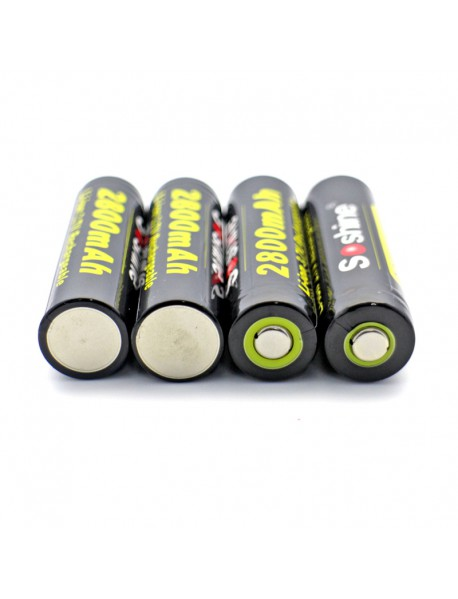 Soshine 18650P 3.7V 2800mAh Rechargeable 18650 Battery (4 pcs)