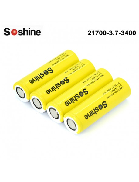 Soshine 21700 3.7V 4000mAh 3C Li-ion Recgargeable Battery (4 pcs)