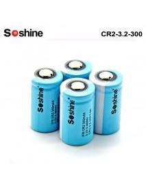 Soshine LiFePo4 15266( IFR CR2) 3.2V 300mAh Battery (4 pcs)