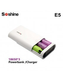 Soshine E5 2 x 18650 Power Bank DIY With Micro USB Cable --White