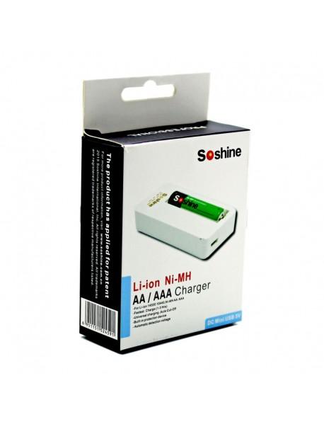 Soshine F3(Li) Charger for Li-ion 14500 10440 NiMH AA AAA