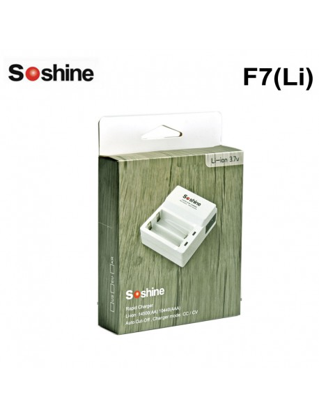Soshine F7(Li) Li-ion 14500/AA 10440/ AAA (3.7V) AC Intelligent Charger
