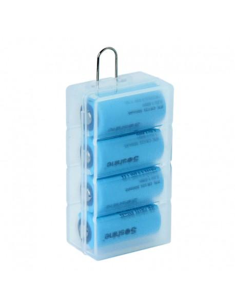 Soshine SBC-027 Plastic Battery Case for 1-4 pcs 16340 Battery - Transparent (1 pc)