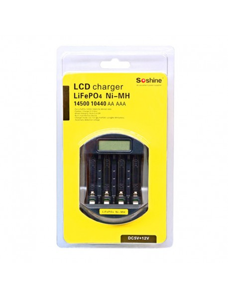 Soshine C5 Super Quick Battery Charger for 14500 / 10440 --Black