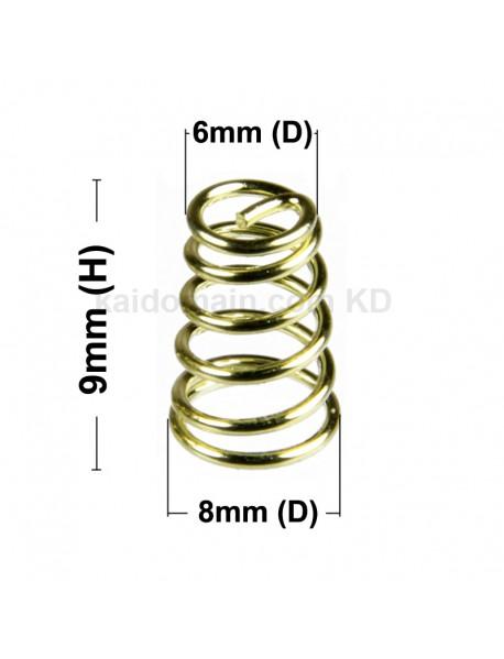 8mm(D) x 9mm(H) Gold Plated Bronze Spring (5 pcs)